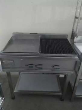 Hotplate with grill stainless steel available for sale