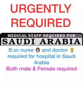 Doctor and nurse required for southi Arabi hospital