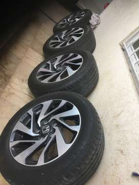 Civic x genuine rims and tyres
