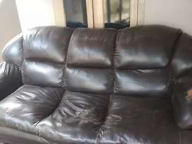 Sofa 5 years completed black color 3+1+1