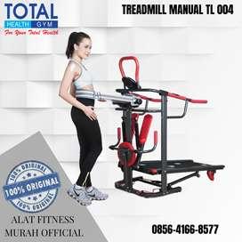 Alat Fitness Treadmill MANUAL TL 004 MULTIFUNGSI GYM
