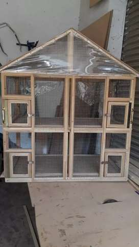 Wood cage