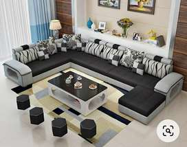U type designer sofa set