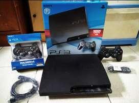 PS3 Slim mantep bos 500GB+2 Stik Full 100 games