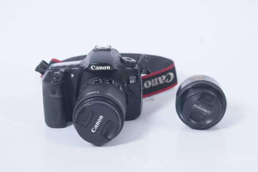 Canon 60D + Lensa Kit 18-55 & Yongnuo 50 mm 0