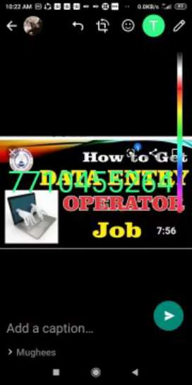 Job of part time oine job data typing