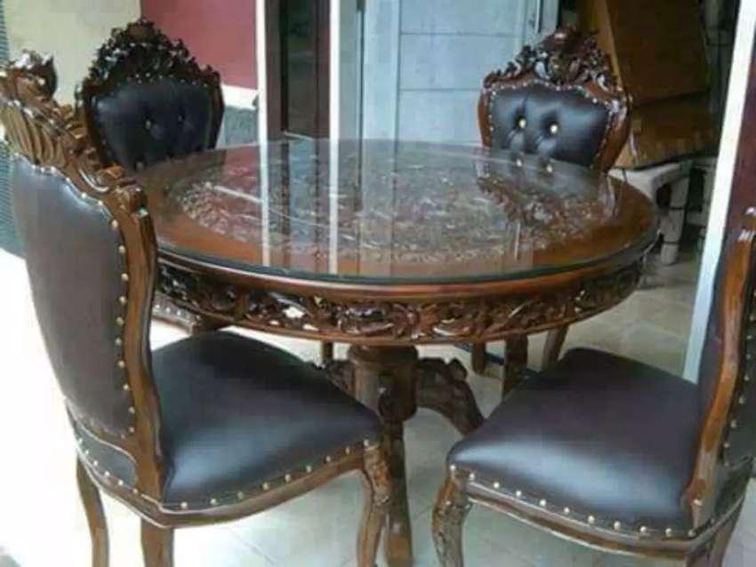 Meja makan kursi klasik siap kirim 0