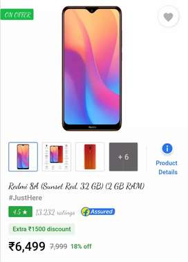 Latest REDMI 8A MOBILE IN SEALED BOX JUST 6000