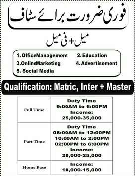 urgemtly required maid from rawalpindi and islamabad