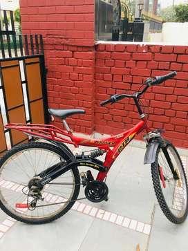 Hero Ranger DTB VX 26T 18 Speed Mountain Bike (Black/Red)
