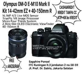 Olympus OM-D E-M10 Mark II Kit 14-42mm EZ + 40-150mm R [Kredit&Cash]