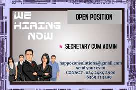 Secretary Cum Admin , REQUIRED Female Candidate Only