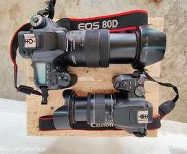 Dslr camera on Rent canon 80D 200D!! & nikon D7500 7200