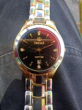 Jam tangan asli swistar Tungsten sapphire crystal Swis no. 6078G