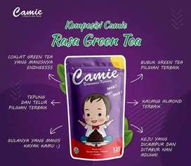 Camie Brownies Kering Rasa Greentea