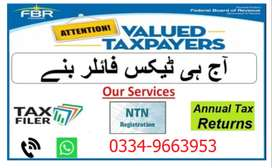 Income Tax & Sales tax (GST) filer Facility available (within a day).