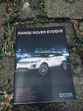 Book Manual Repro Ori Range Rover Evoque
