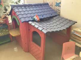 Small plastic red house for kids