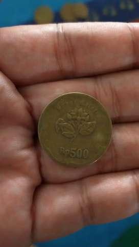 Uang Coin rp 500 melati th 1992
