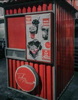 Booth Semi Container / Franchise Minuman Thai Tea / Container Jualan