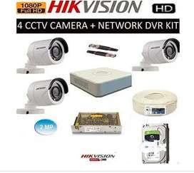 Brand New Hik vision 2/4/8 CCTV camera setup with 1 year free amc