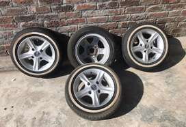 Mehran car tyre and alloy rim
