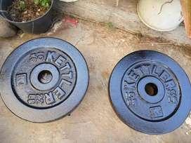 Plat kettler 10 kg, piringan barbel 10 kg