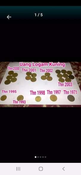 Uang koin kining pecahan Rp 50,100,500