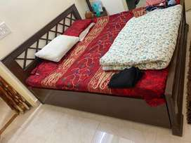 Double bed with one side