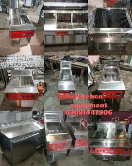 Pizza, Fast Food, Chinese, Pakistani, BBQ all commercial kitchen equip