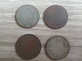Old ancient coins 1940s and 1960s