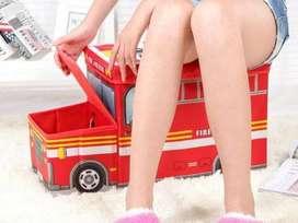 PROMO - torage box/cartoon storage bus kota penyimpanan mainan