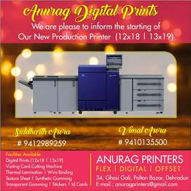 Binder required for printing press