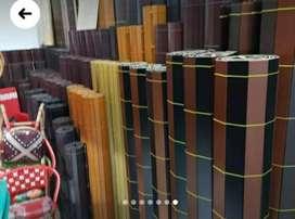 Terima pesanan tirai kayu,bambu,Kirai kulit