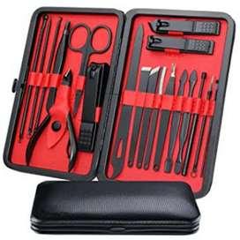 Peralatan Perawatan Kuku, Kulit & Alis, Manicure Set 15in1.