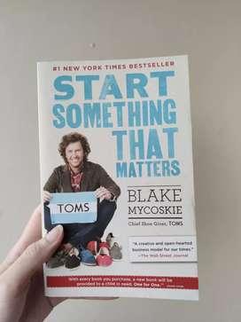 Buku impor ORIGINAL - Start Something That Matter by Blake Mycoskie