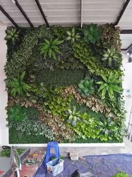 Wallpaper Masa Kini -Taman Vertikal Garden Sintetis Dinding Indoor