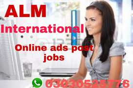 Online ads post jobs for male female and students can apply