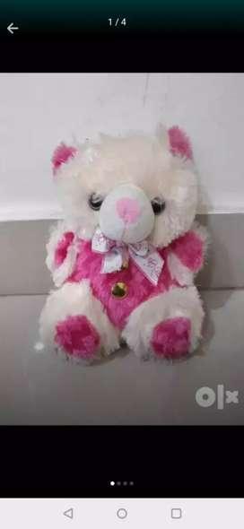 Pink and orange stuffed toy