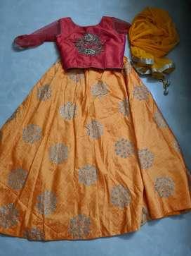 Yellow lehanga