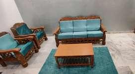 Sofa set ( 3+1+1) , Centre table