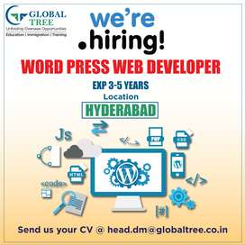 We are Hiring Word Press Web Developer