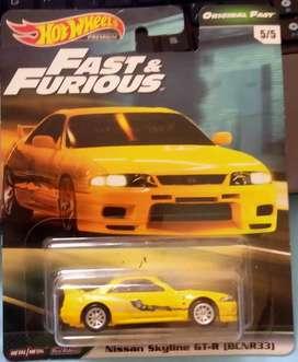 Hot wheels Fast & Furious Nissan skyline GT-R (R33)