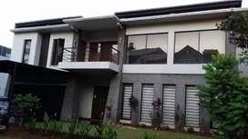 Rumah mewah minimalis asri, taman telaga golf, bsd