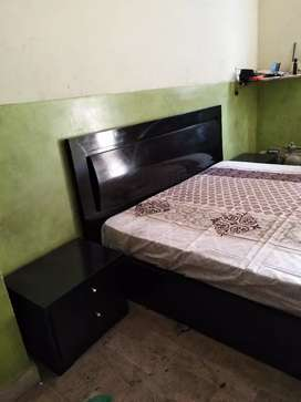 New Polished Bedroom Set with Mattress