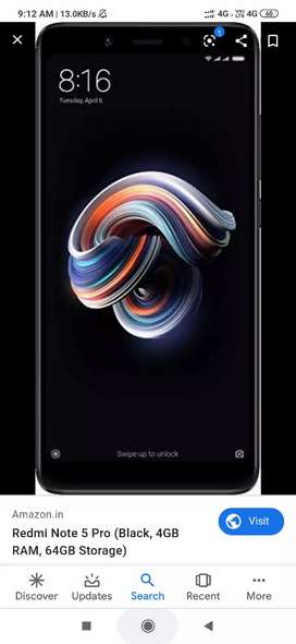 Note 5 pro 6gb 64gb black color