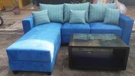 Sofa Lelang stok, sofa L jumbo, ukuran235x185