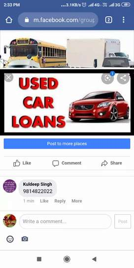 We search sales executive for used car loan