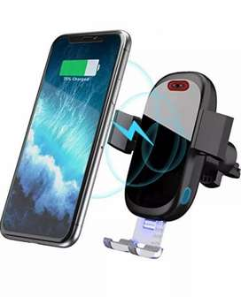 SONRU Wireless Infrared Sensor Car Charger Auto Clamp Phone Holder