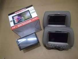 paket headrest monitor + audio SAMISEN
